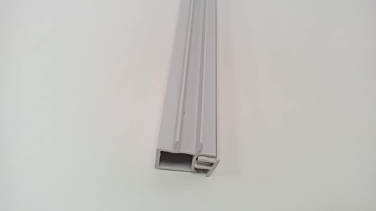 390.97/9800A. 01 אלומיניום פרופיל אביזרי לא סטנדרטי חריץ 8/10 לבן חריץ כיסוי