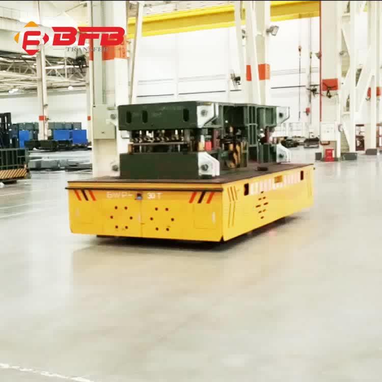 料框周转无轨平台车 10吨无轨胶轮平板车轮式平车厂家免费安装