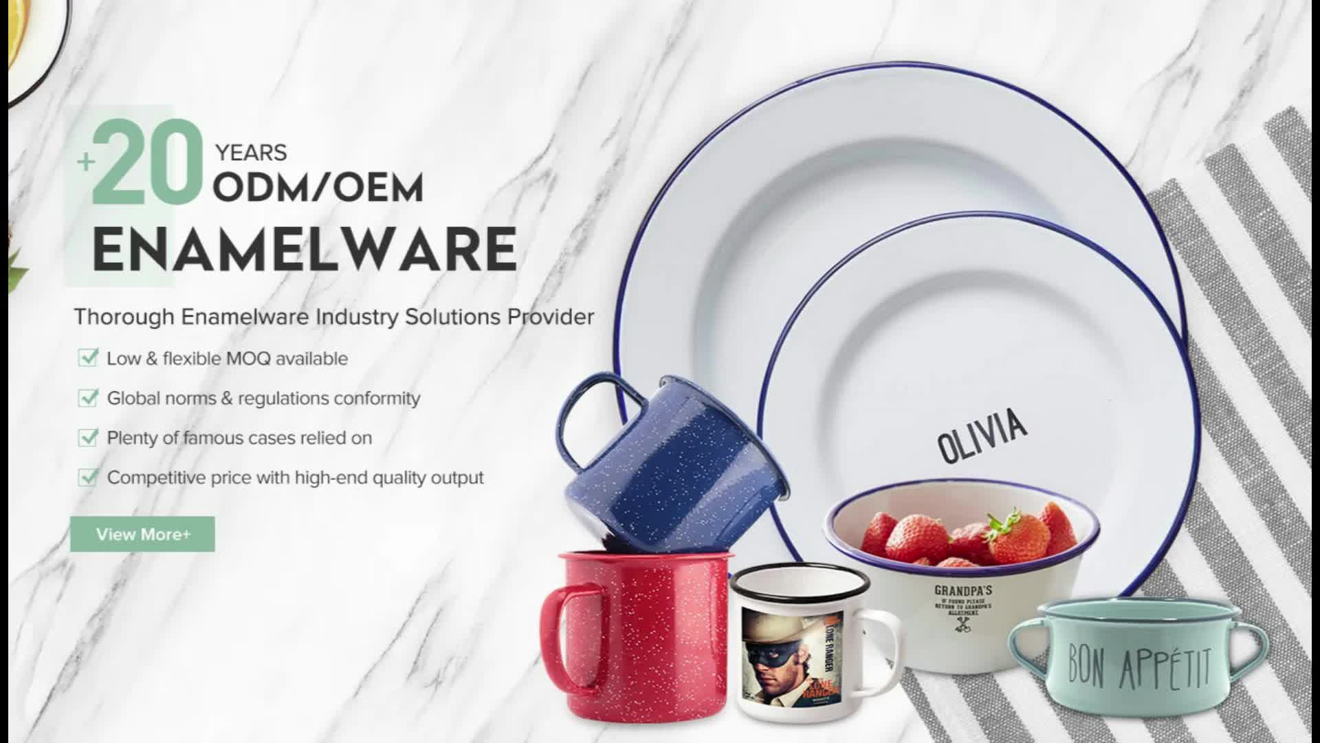 18cm ice cream porcelain enamel bowl for food storage