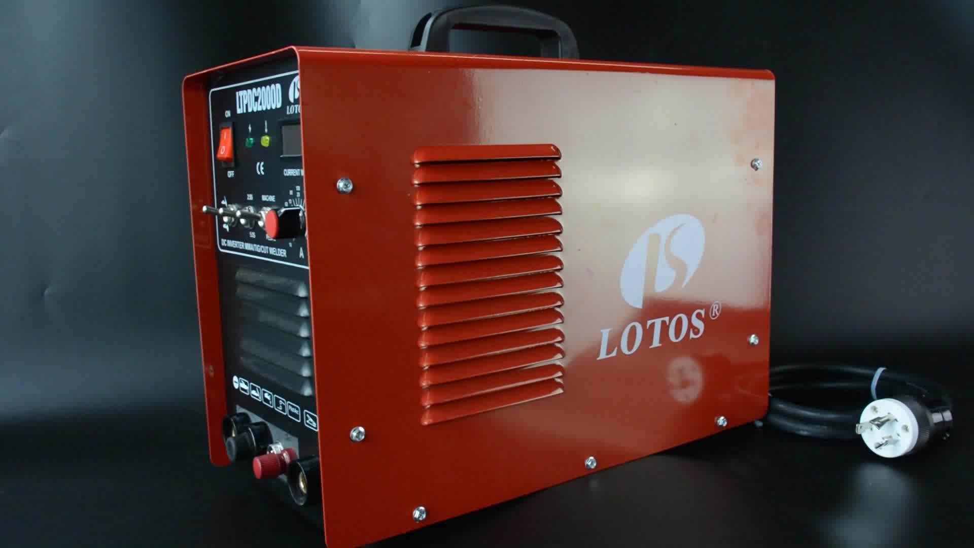 LTPDC2000D 110/220 V eléctrico de soldadura por plasma 200 amp pequeño soldador inversor de la máquina de soldadura