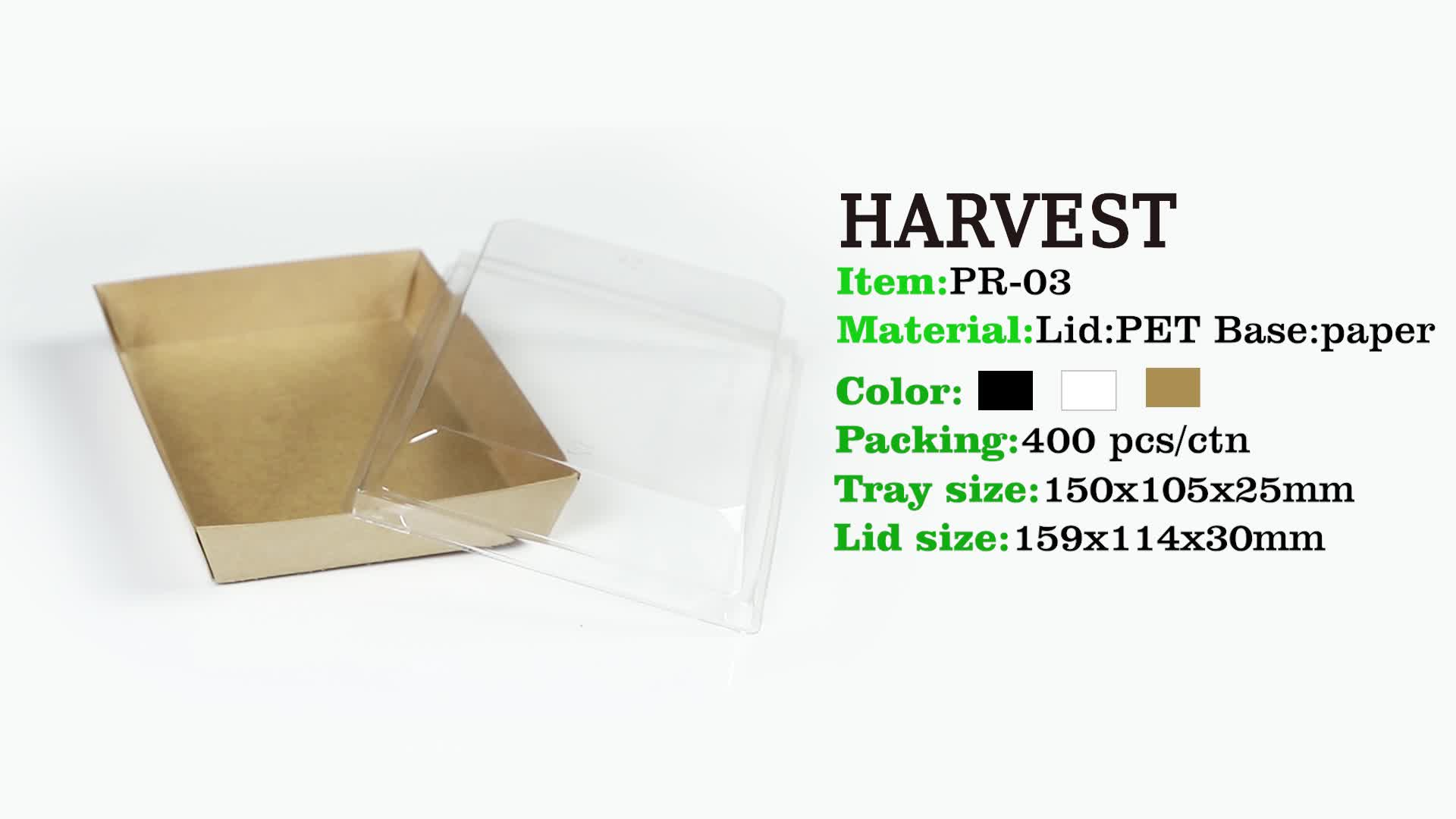 Harvest new snack cupcake muffin bread sushi cardboard craft boxes