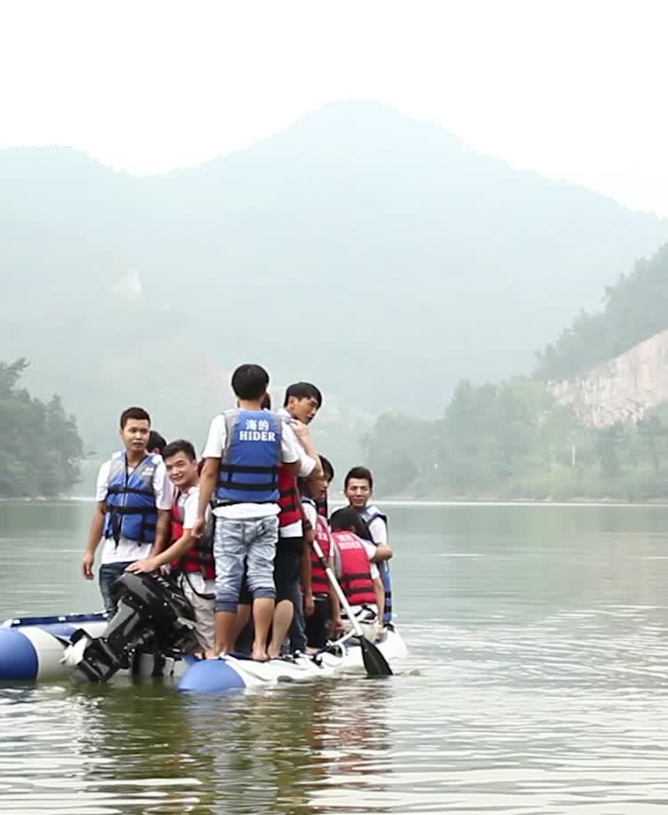 Barco de pesca inflável de borracha da gasolina do PVC de Hider para venda