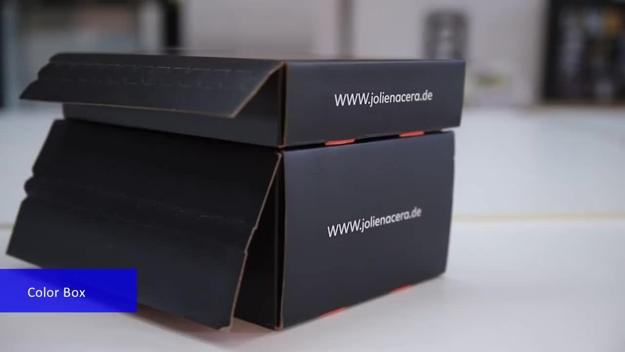 Customized Made black Small Corrugated Paper shipping boxes with custom logo