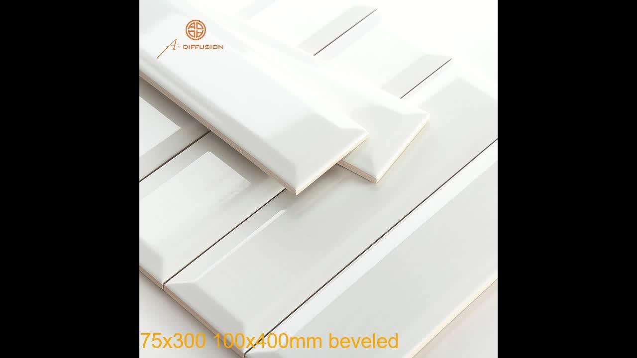 white and black kitchen tile 75X150,100X200cm