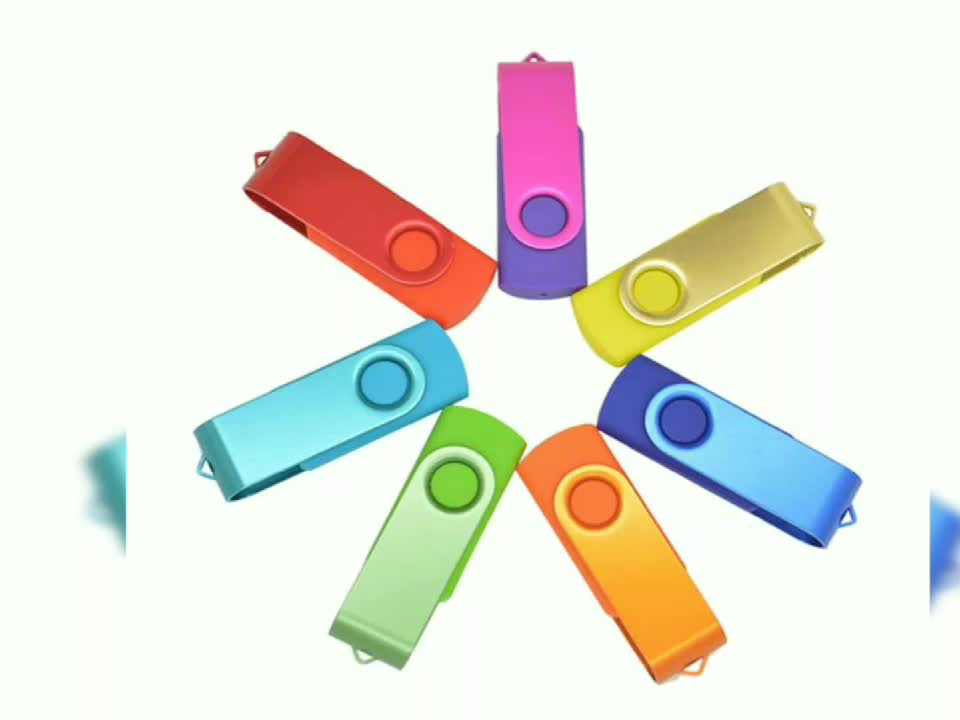 Factory supply custom business promotion gift 2.0  3.0 popular swivel USB flash drive with custom logo and package