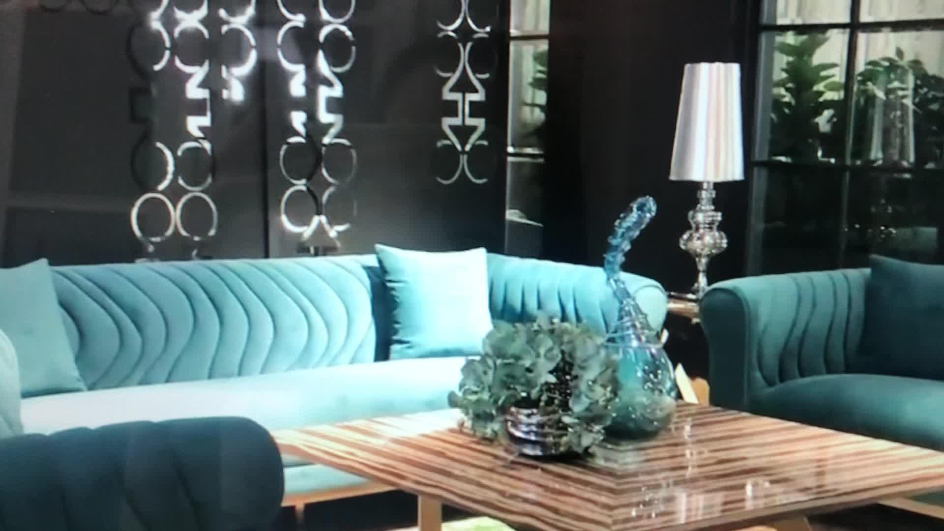 custom blue set design luxury chesterfield-sofa sofa for living room home furniture
