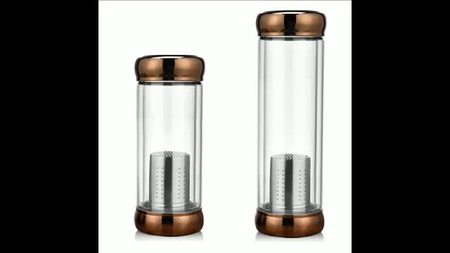 New products 420ml tea infuser glass bottle