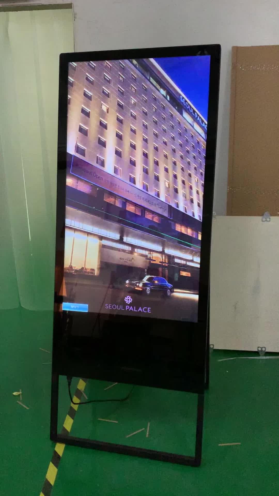 """मुक्त खड़े foldable अप 32 """"43"""" 49 """"55"""" इंच एलईडी एलसीडी ई-मेनू डिजिटल विज्ञापन कॉफी शॉप रेस्तरां के लिए टचस्क्रीन मॉनिटर"""
