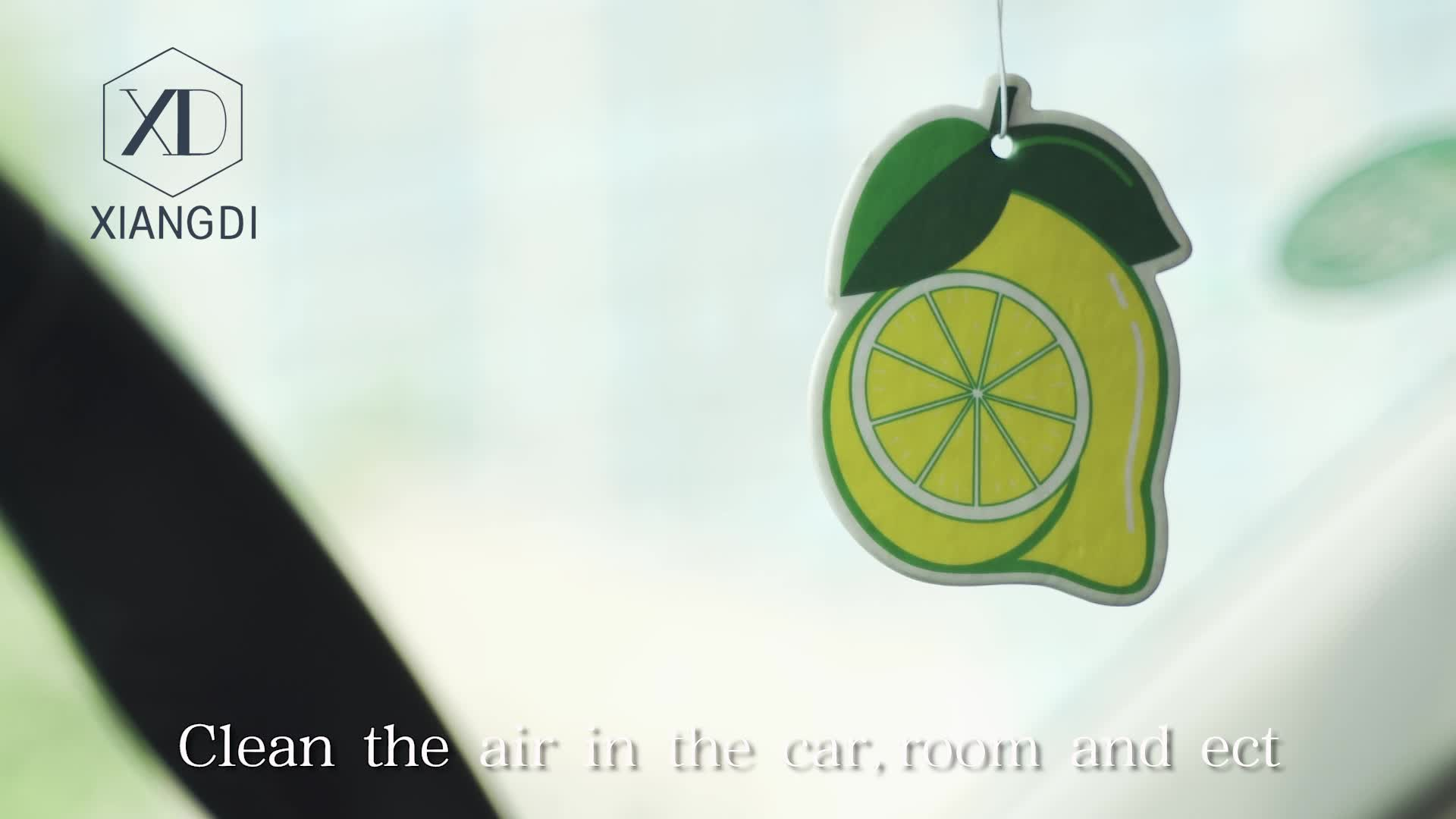Cheapest Logo Printed Paper Card Funny Car Air Freshener