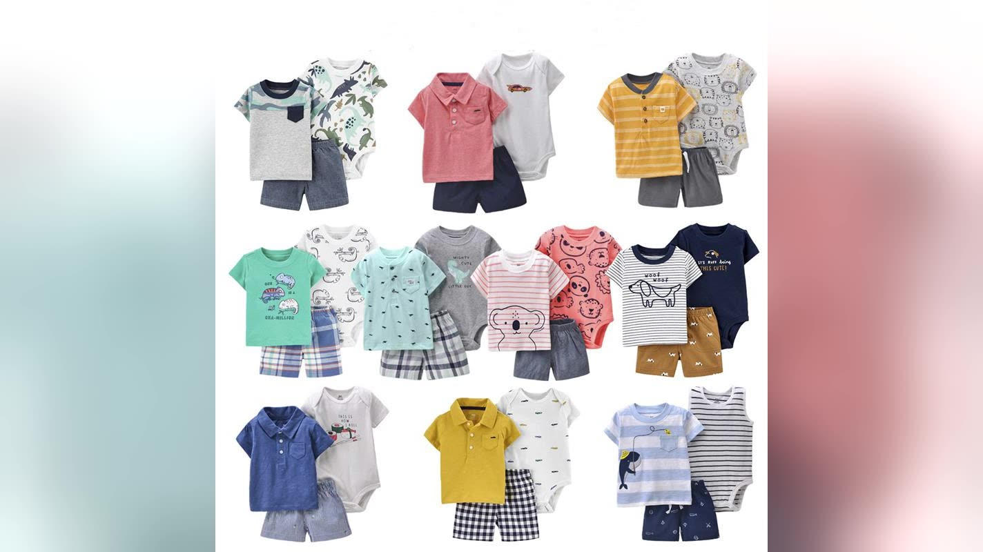 Various Design New Born Baby Clothes Cotton Short Sleeve Clothes Set Baby Romper