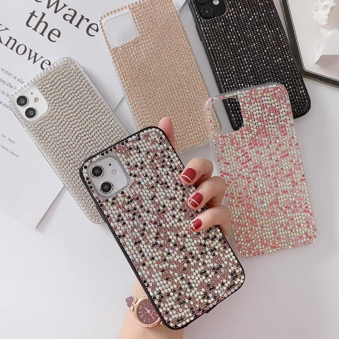 Hot Selling Sparkling Phone Case and for Airpods Gen 1 2 Glitter Diamond Shiny Covers Girl for iPhone 11Pro Se 10 7 8Plus Ladies