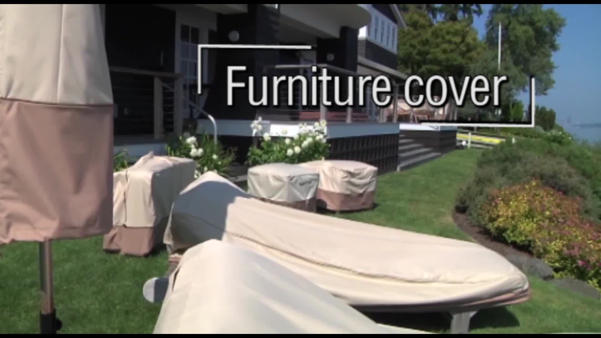Lounge Deep-Seat Patio Chair Cover Light Grey OEM service Spandex chair seat cover