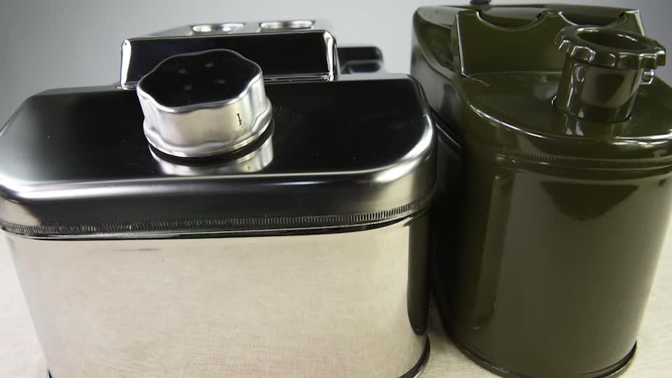 10L 20L 30L di tipo Americano militare portatile mini in acciaio inox a benzina olio jerry può