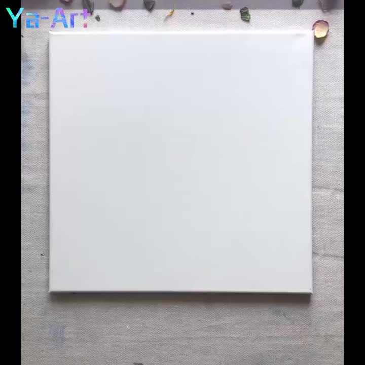 Wholesale Custom Cheap Polyester linen Artist paint canvas panel boards wall Art Blank Stretched Painting Canvas for painting