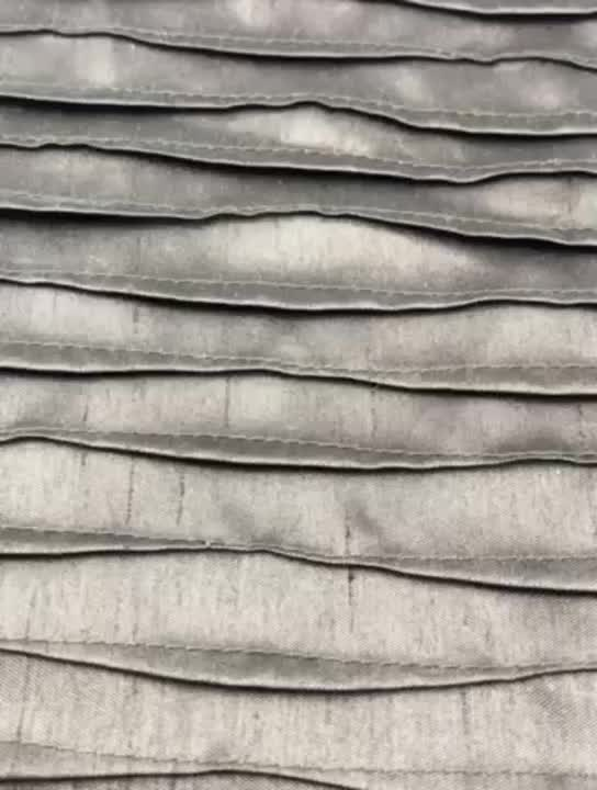 Custom made new style hemming leather embroidery laser voile fabric