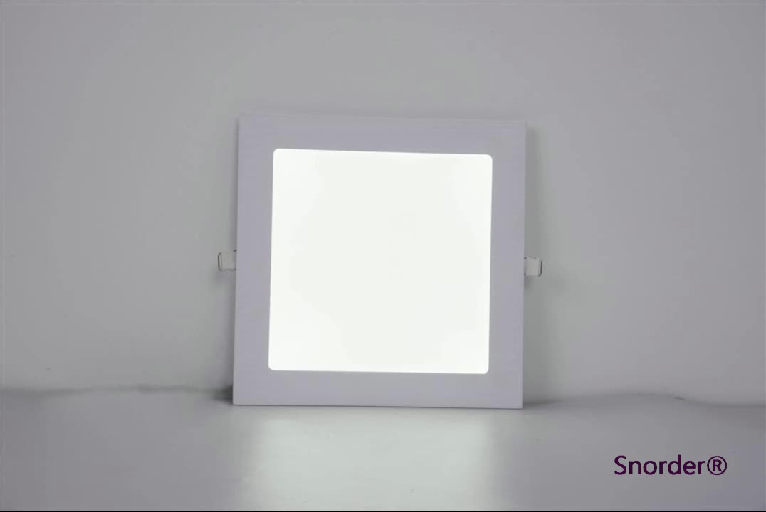 Hot ceiling Lamp Square embedded SMD2835 18W led panel light with CE RoHS