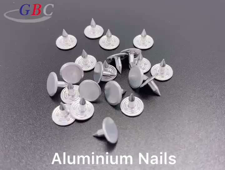 Different Size aluminum nail for jeans button accessories