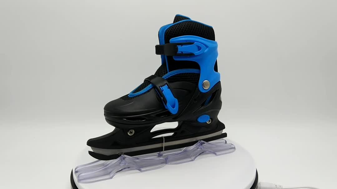 Happy star Adjustable ice skates,colorful wholesale ice skate shoes