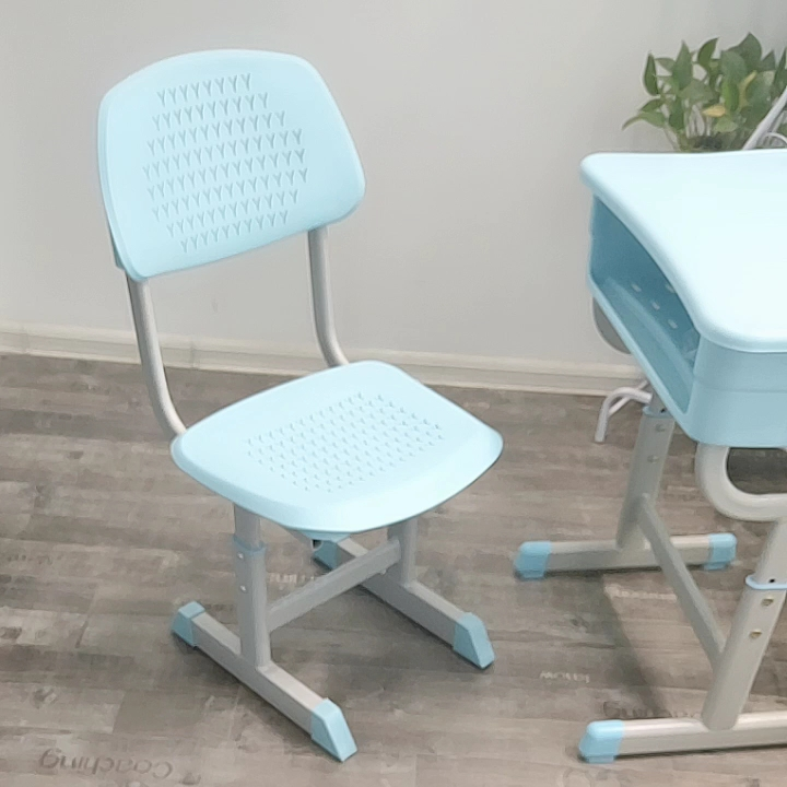 Single student anti - static desks and chairs with adjustable height