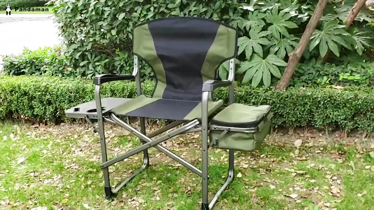 Timber Ridge Camping Chair Ergonomic High Back Chair with Carry Bag Folding Quad Chair Outdoor Heavy Duty, Padded Armre