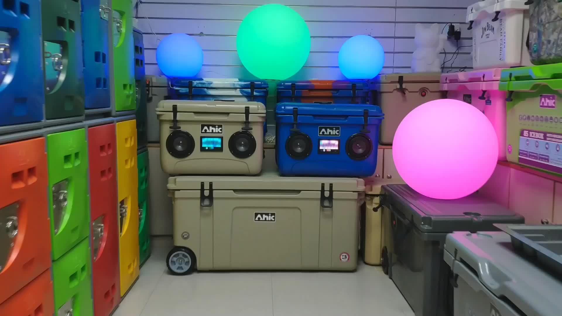 Portable cooler box บลูทูธ cooler วิทยุ,เพลงที่มีสีสัน cooler,Cooler ลำโพงไร้สายบลูทูธ