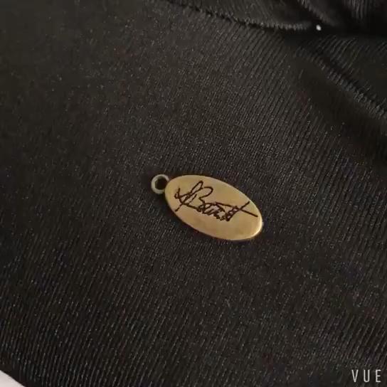 Custom metal beads engraved jewelry metal pendant tags for bracelet