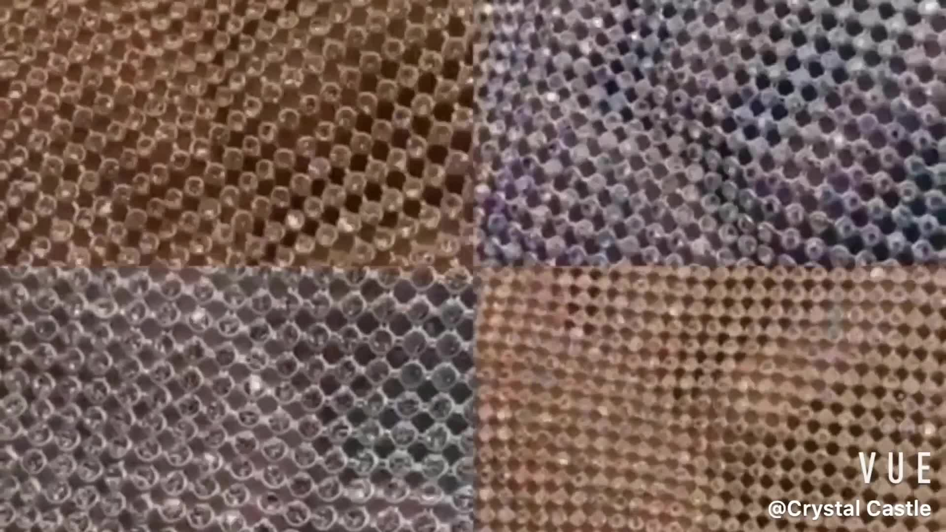 クリスタルキャッスルラインストーンビッグ石メッシュクリスタルメッシュ織物タッセルトリム以外の修正プログラムラインストーンシート