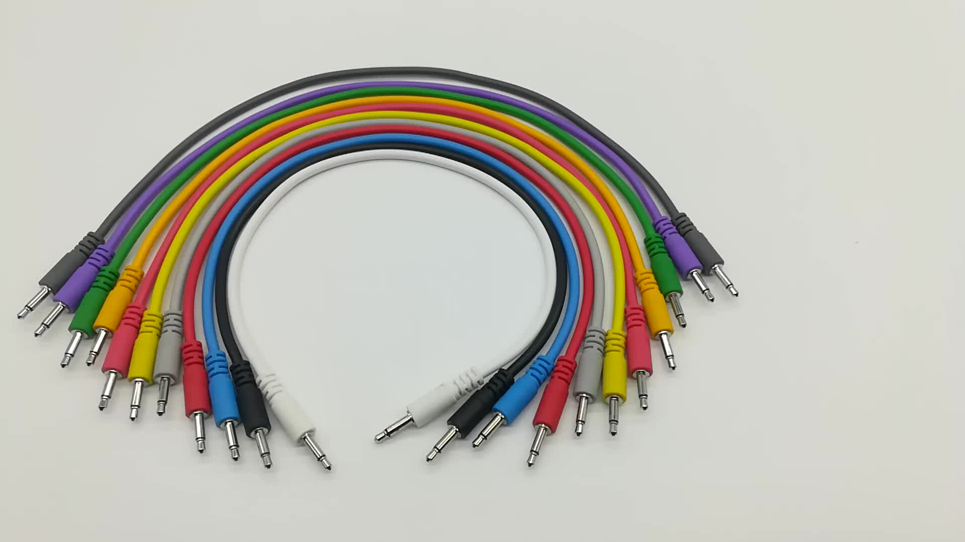 wholesale manufacturer custom logo pvc connector mono Eurorack Modular patch 3.5mm audio video cable