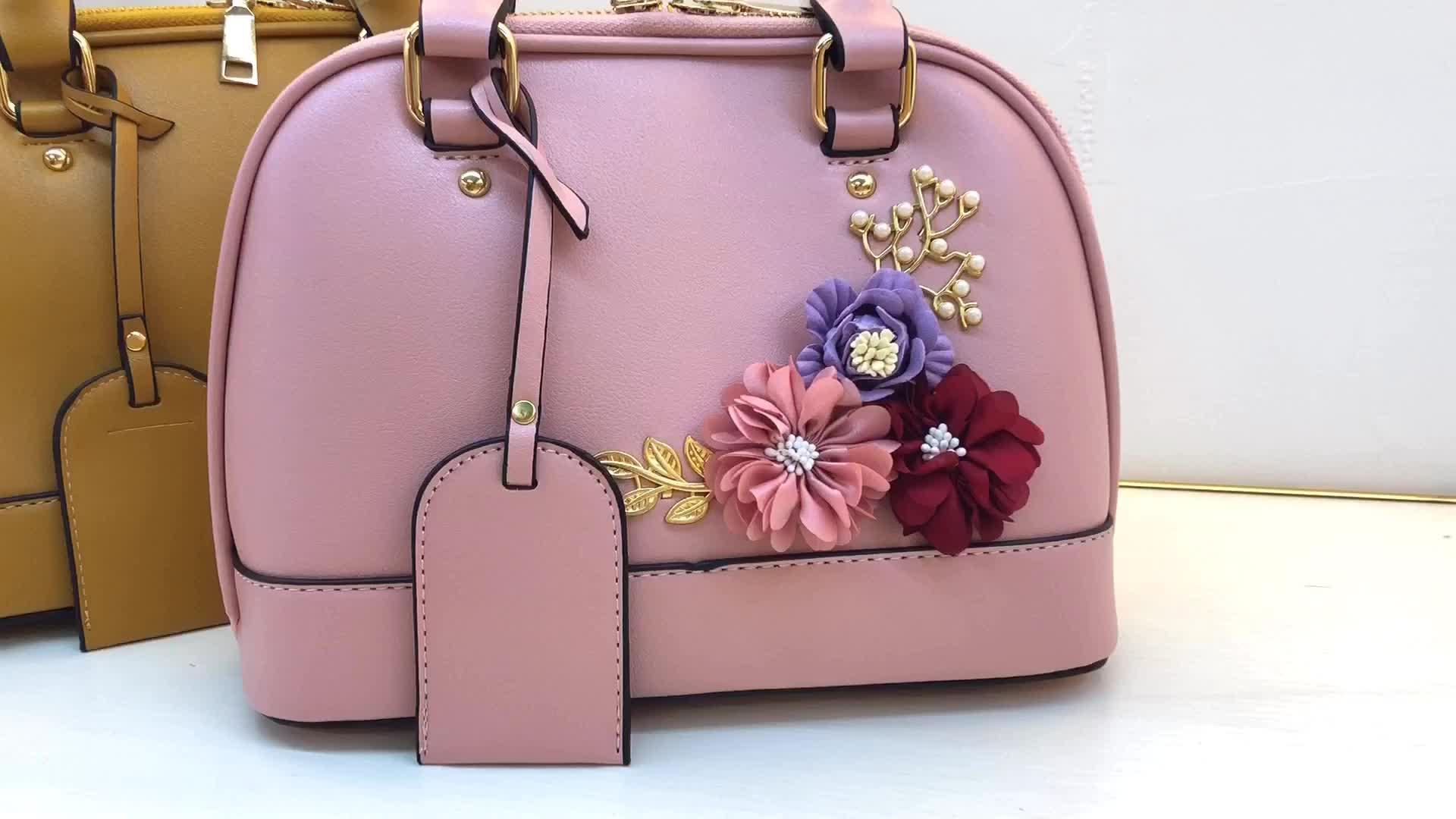 卸売夏中国サプライヤーホット販売の花のトートバッグの女性のハンドバッグ 2019