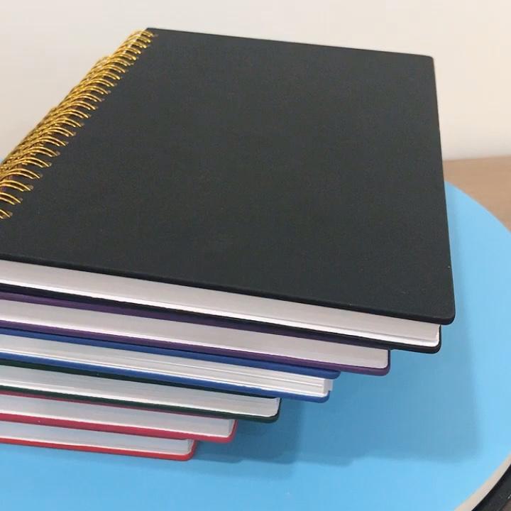 โรงเรียนเครื่องเขียนโลโก้ที่กำหนดเอง A5 GOLD SPIRAL Notebook