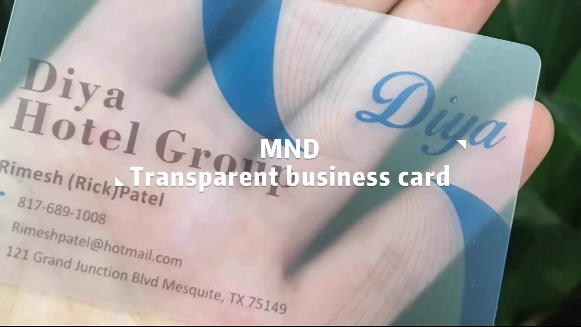 MDB0008 Holographic hologram transparent business cards