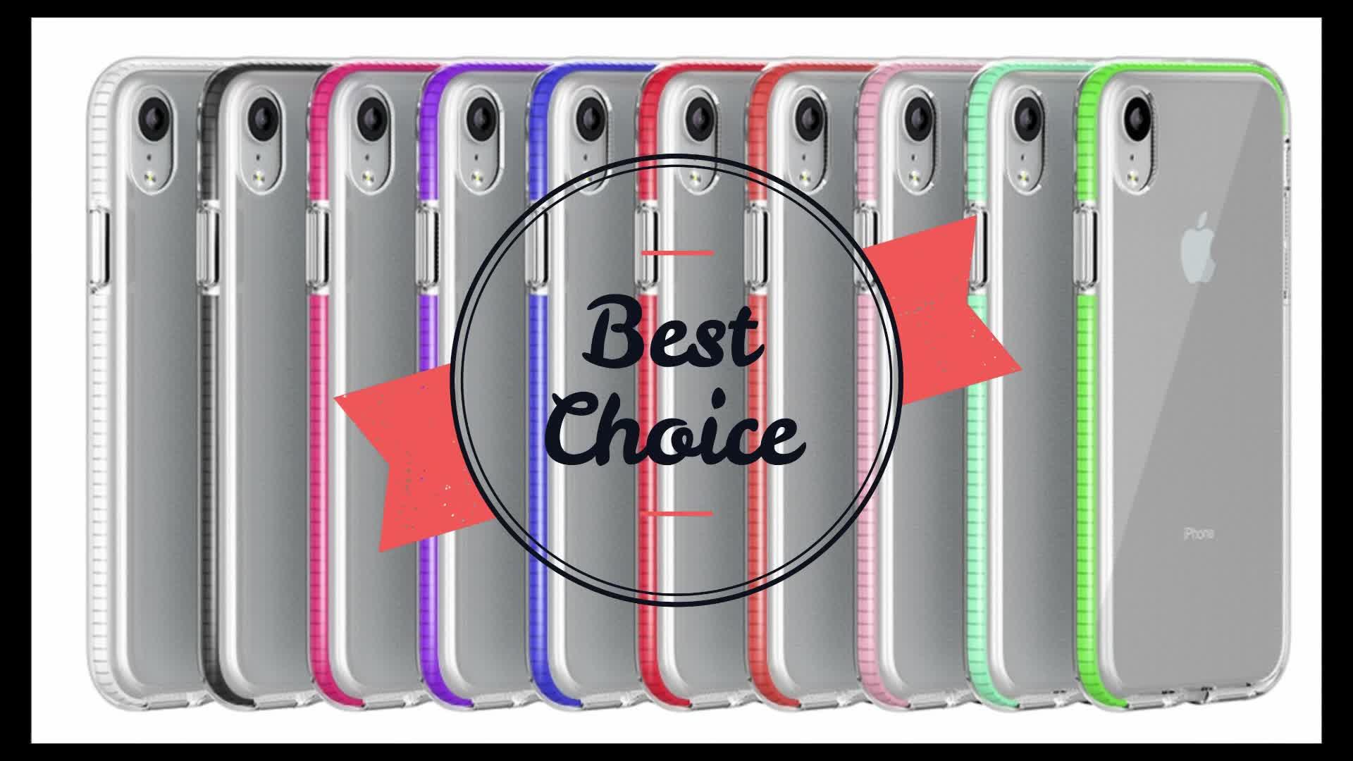 गर्म बिक्री नवीनतम शैली विरोधी-ड्रॉप स्पष्ट डबल रंग नरम बम्पर TPU TPE फोन के मामले में कवर के लिए विवो X27 प्रो फोन के मामले में