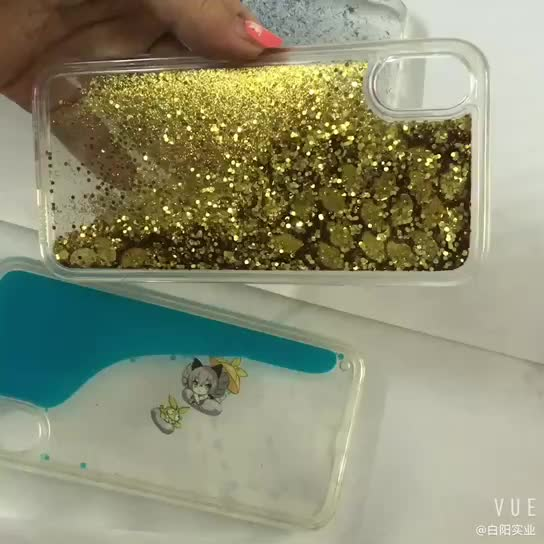 Retail Hot-Sell Creative Snowfall Fancy Glitter Cellphone Phone Silicone Case Phone