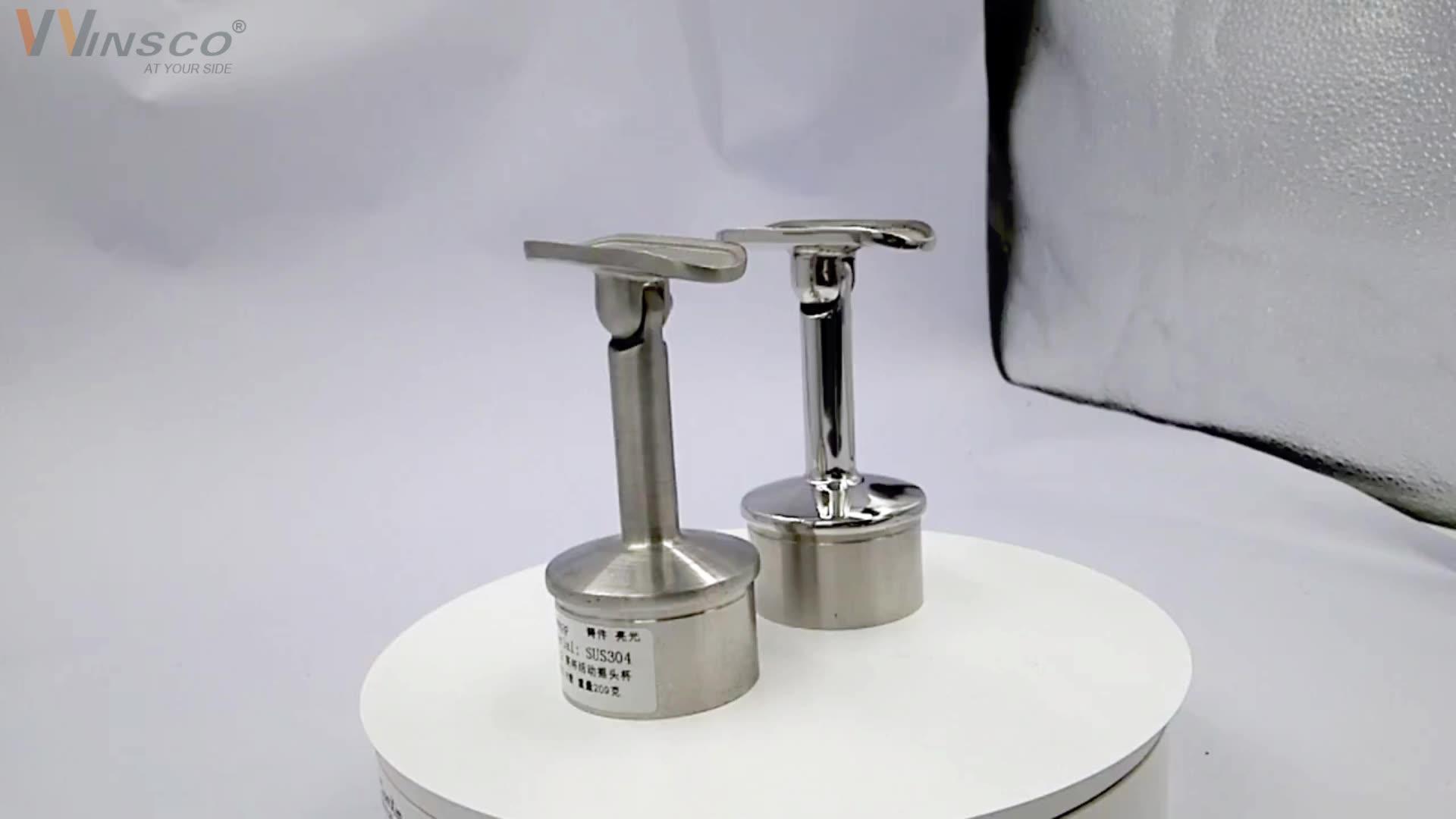 Top Grade 304 316L Polished Welded Stainless Steel Round Post Reducer For Metal Rail Adjustable Saddle Handrail Bracket