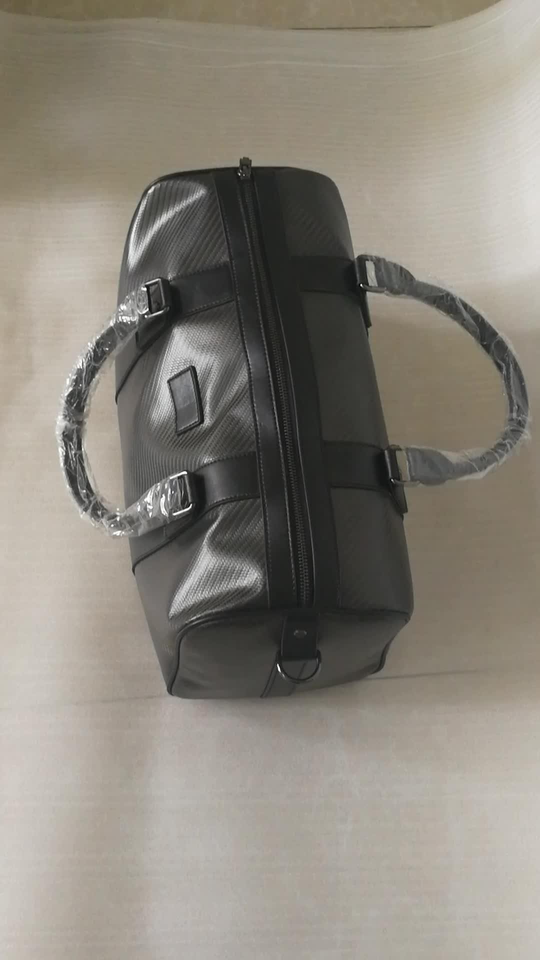 De luxe en fiber de carbone en cuir sac de voyage
