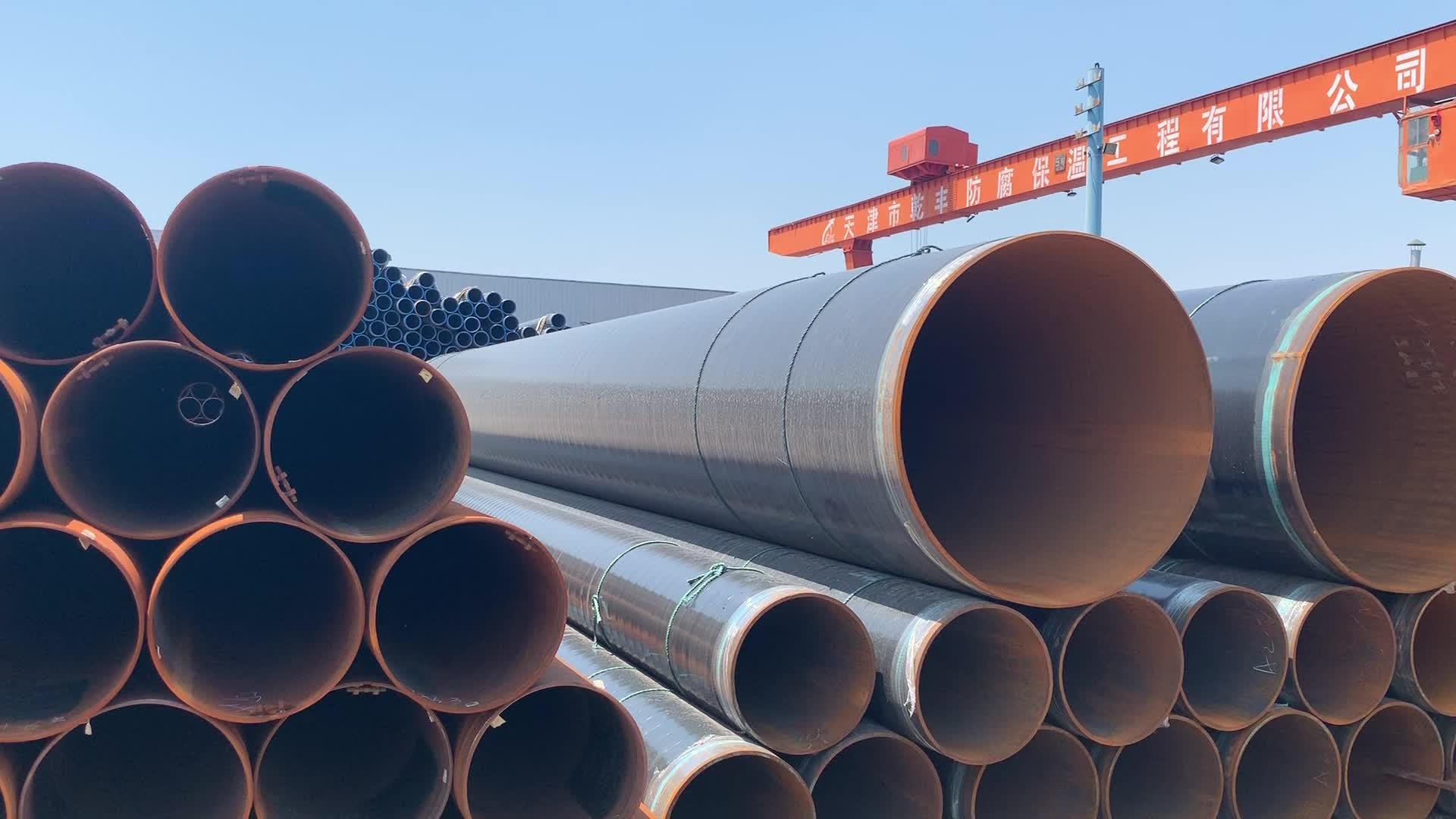API 3PE Coating Steel Pipe For Anti-Corrosion Pipeline