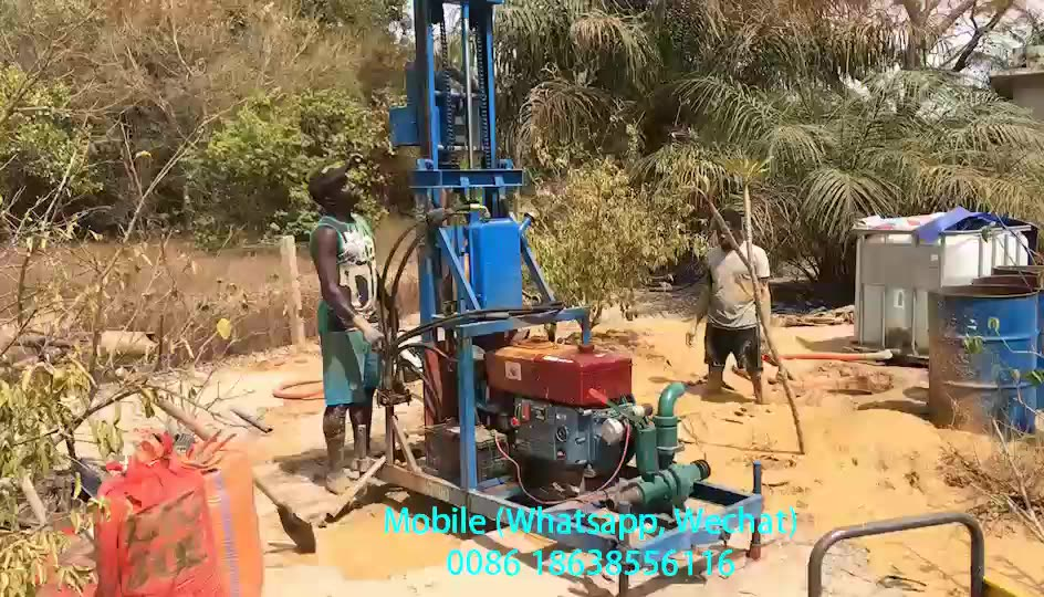 CE Hydraulic Small Portable Water Well Drilling Rig Machine For Sale Prices