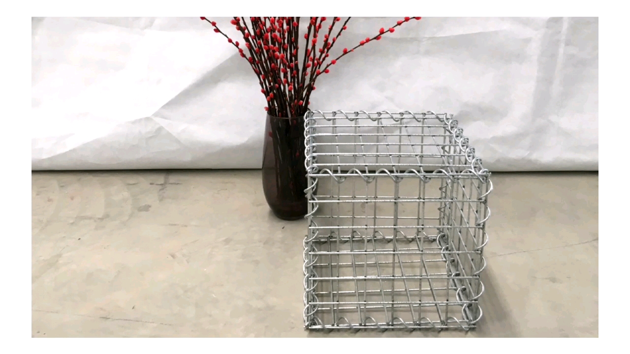 4mm 50x100mm galfan wire standard garden gabion metal basket and gabion boxes sizes