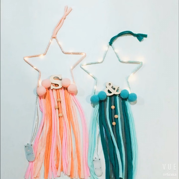 Wholesale Handmade Indian Dream catcher Star Shape for Home Baby Room Decoration