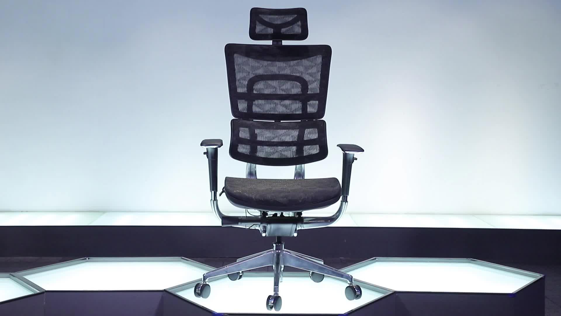 Foshan Ergonomis Manager Mesh Kain Kenyamanan Tempat Duduk Vanbow Swing Seat Kursi Kantor