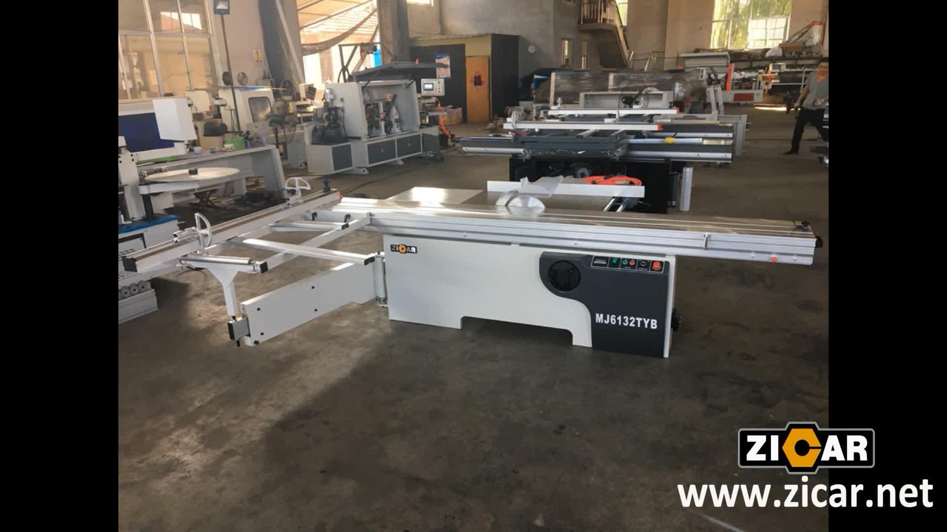 ZICAR MJ6132TYB 3200mm Comprimento de Corte Do Painel de Tabela De Deslizamento Viu Máquina do Woodworking Viu