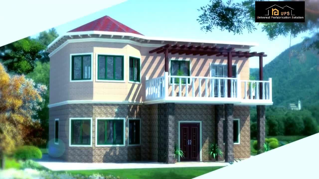 2020 nuevo diseño de bienes raíces de cemento panel edificio de vivienda pre hecho villa proyecto
