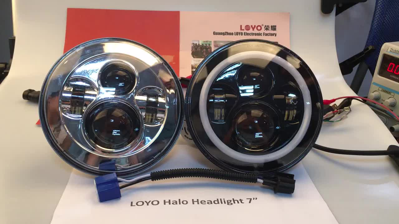 New item high low beam 7 round led headlight for motorcycle