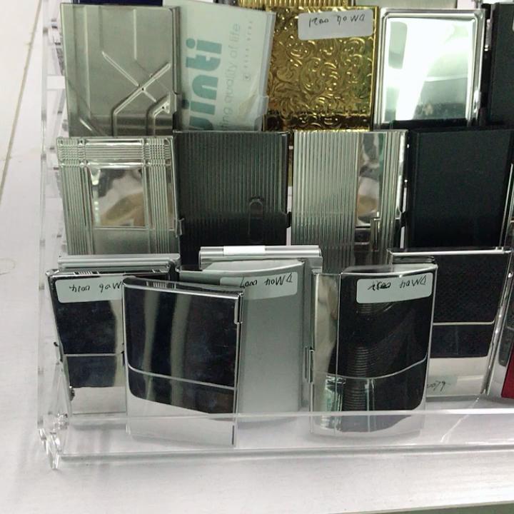 Bloqueio de segurança personalizado metálico fantasia de aço inoxidável titular do cartão de negócio de metal