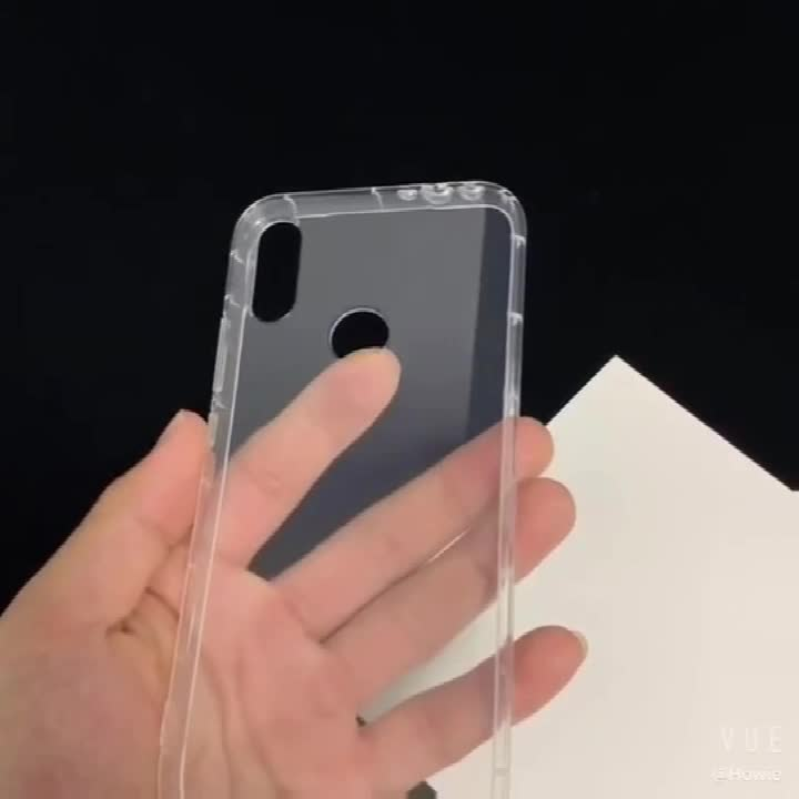 Transparent TPU Phone Case For iPhone 11 Air Bag Soft Shockproof Mobile Covers Full Protection TPU Case For iPhone X Back Cover