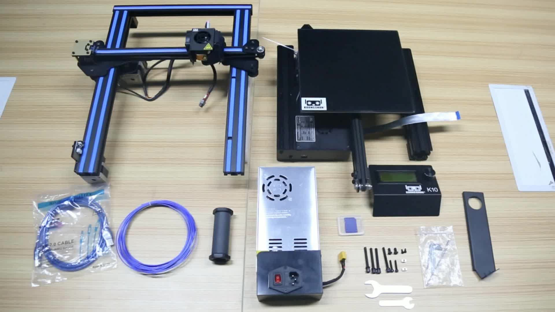Wholesale High Precision KS K10 3D DIY Kit Resume Printer with Magnetic Build Surface Plate