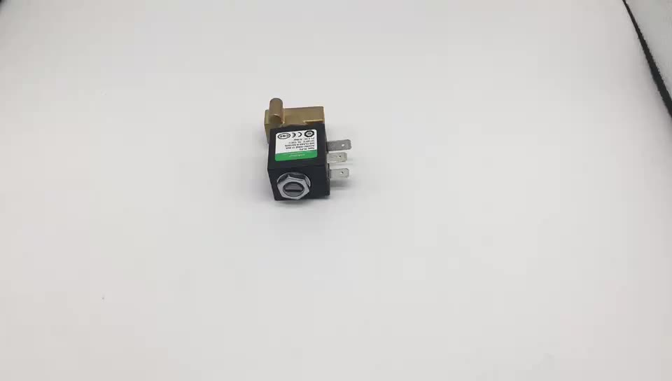 cnkalun china manufacturer price  brass mini 2 way solenoid valve for coffee machine