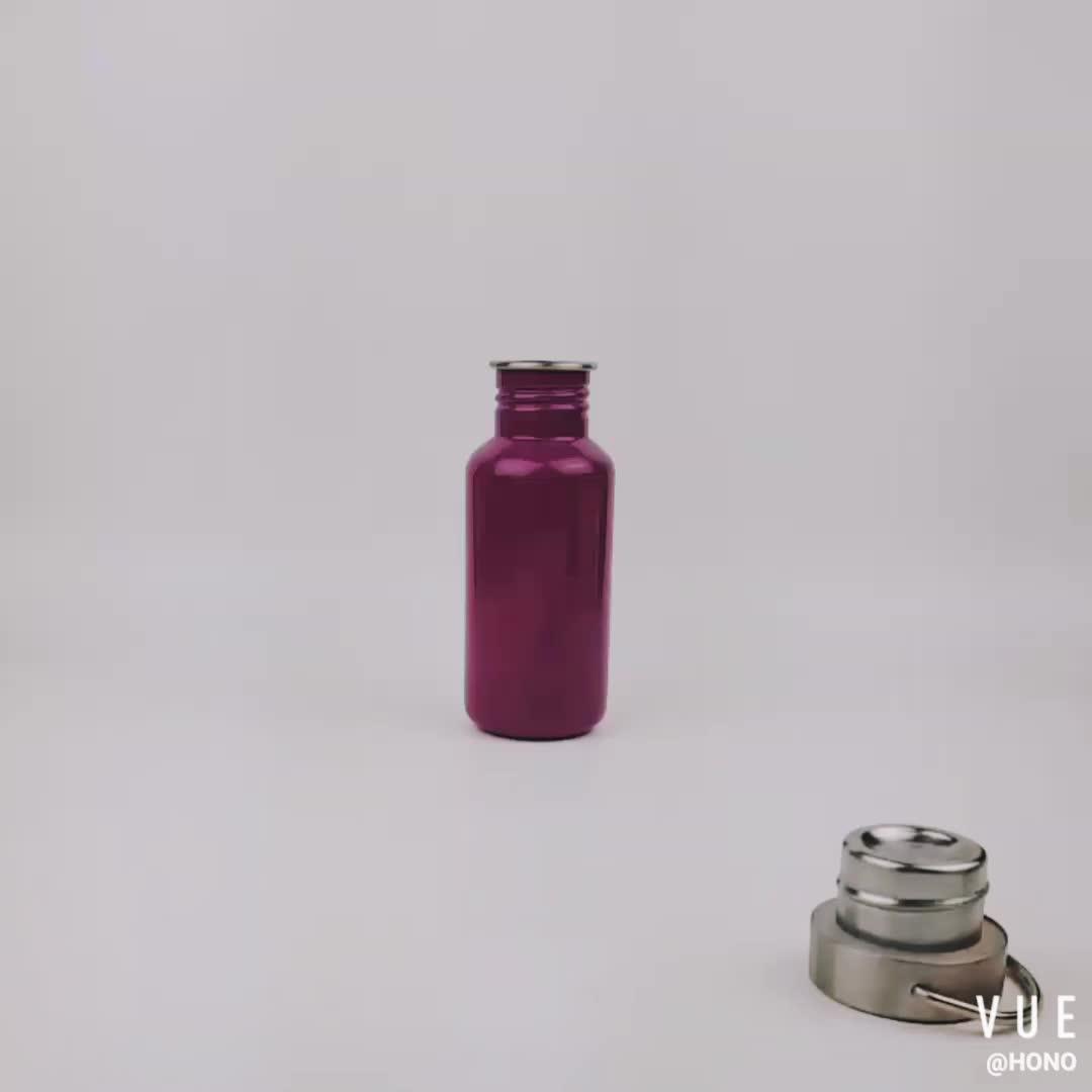 500 ml esportes garrafa de água potável de compras online com palha De aço do Metal