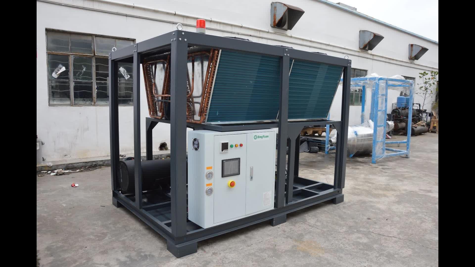 100HP grote koeling capaciteit indsutrial koelkast luchtkoeling water chiller