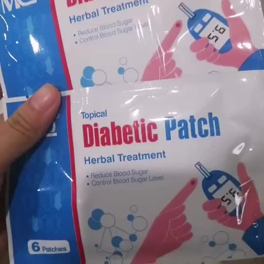 High efficiency 6Pcs Diabetic Patch Stabilizes Blood Sugar Balance Glucose Content Natural Herbs Diabetes Plaster